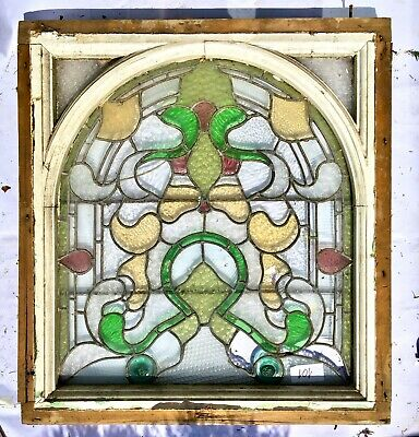 Beautiful Large Vintage STAINED GLASS WINDOW