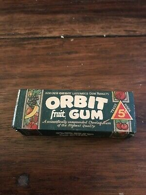 Vintage NOS 1928 ORBIT LISTERATED CHEWING GUM, ULTRA RARE