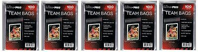 500 Ultra Pro Team Bags 5 Bags Resealable Strip  New Acid Free No PVC