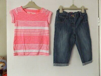 Next girls lovely outfit /set T-shirt and jeans aged 4-5  years