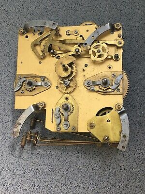 Westminster Clock Movement Dial Spares Repairs Brass (E)5 Hammers England