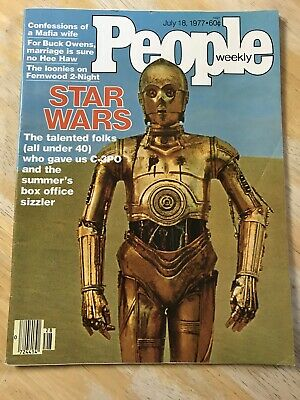 People Magazine Star Wars July 18 1977 C-3PO Excellent Condition