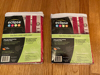Eclipse Kids Thermal Blackout Curtains (2 Panels) 42x63""