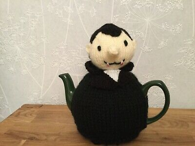 Dracula Hand Knitted Tea Cosy / cosie 'I want to bite your cup'