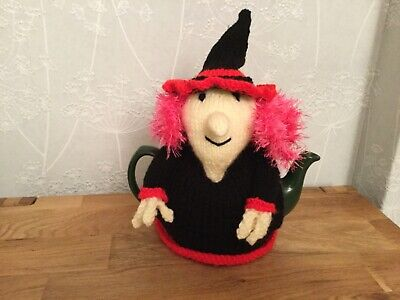 Witch Hand Knitted Tea Cosy / cosie 'Witches Brew' Great Gift