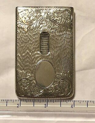"Sterling Silver Card Case . HALLMARKED . "" NICEST ONE I HAVE "" Pristine Perfect"