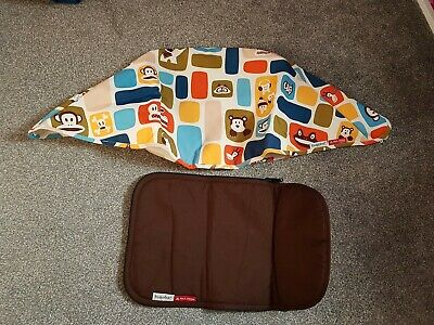 Bugaboo cameleon paul frank canvas Hood & matching brown apron