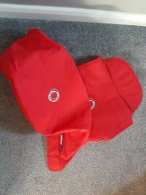Bugaboo donkey Red fabric set hood and apron NON EXTENDABLE .