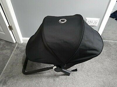 Bugaboo donkey black Extandable hood , fabric only ! Please read!!!