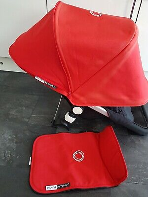 Bugaboo cameleon 3 red canvas fabric set  Hood & Apron please read!