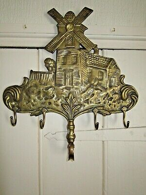 Vintage Brass Coat / Hat Hanging Bracket.