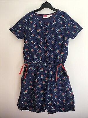 Boden girls playsuit age 9-10 years, Gorgeous Strawberry Pattern