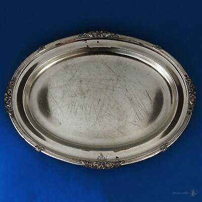 """WILLIAM IV OLD SHEFFIELD PLATE CRESTED SERVING PLATE 16"""" Roberts, Smith & Co"""