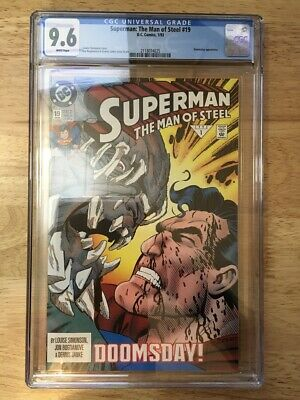 Superman: The Man of Steel #19 CGC NM+ 9.6 White Pages Doomsday!