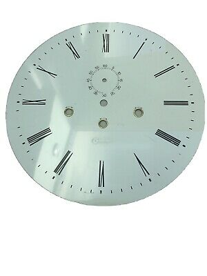 Large White Clock Dial 265mm Metal White Roman Numerals
