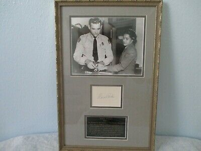Rosa Parks Framed and Signed / Autograph - James Spence Authentication (COA)