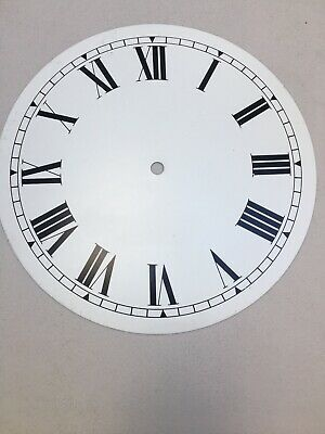 "Large Clock White Dial 10""Metal  Roman Numerals 255mm (M)"