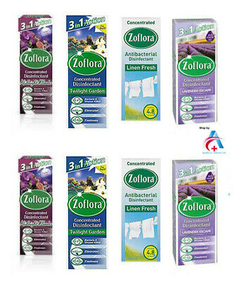 Zoflora Concentrated Disinfectant - 4 Different Scent -Pack Of 12 -120 ml