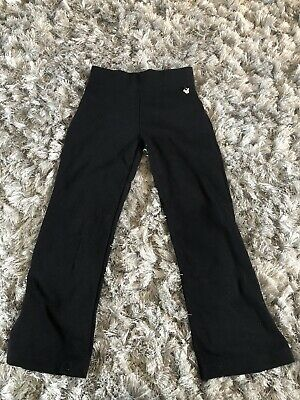 Girls Black Jog Bottoms Age 6. -7 Yrs