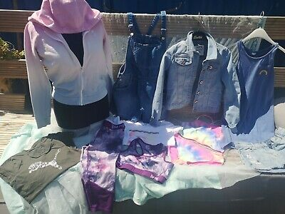 Girls Age 11-12 Summer Jogging Bundle NEXT dungarees hot tuna TU, PUMA, some NEW