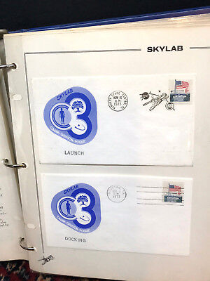 Rare 1973 COMPLETE SKYLAB 4 Set of 86 NASA Franked Mission Covers +JOURNAL space