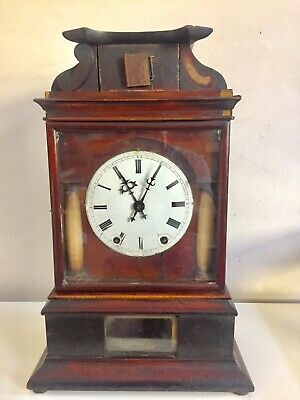Antique Unusual Very Early Cuckoo Clock With Wood Back  Plate   By Beha C 1820!