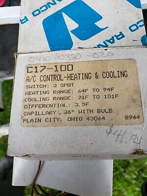 New Ranco Heating Cooling Thermostat Temperature Control C17-100