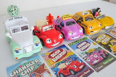 Lot of 5 Chevron Cars Collectibles Toys Chandler Chip Danni Driver Tyler Taxi