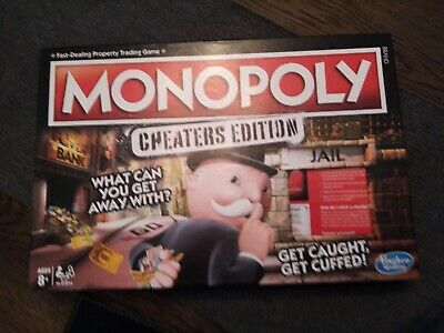 Monopoly Cheaters Edition Board Game By Hasbro Good Condition