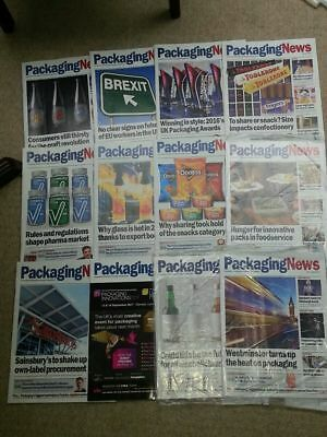 12x PACKAGING NEWS professional supply chain magazine (CIPS) Oct 2016-Nov 2017
