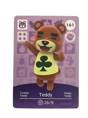 Teddy 161 - Official Animal Crossing Amiibo Card Series 2 New Horizons Unscanned