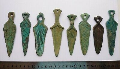 Bronze Age amulet daggers collection! 1200-800 B.C., different types!