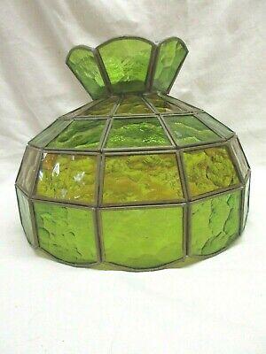 Vintage Stained and Slag glass Hanging/Ceiling Lamp Shade