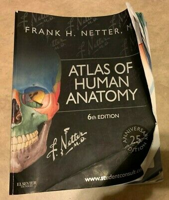 Atlas of Human Anatomy Frank H. Netter Paperback Book 6th Edition