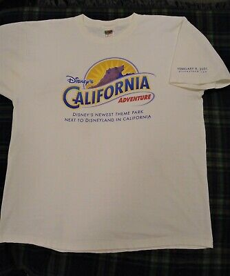 vintage disney california adventure preview opening t shirt size xl
