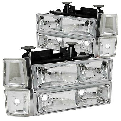 111099 Anzo Usa 111099 Crystal Headlight Set