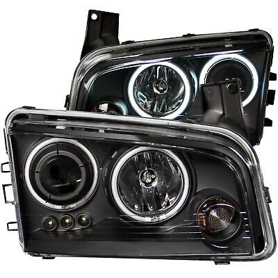121218 Anzo Usa 121218 Projector Headlight Set W/Halo Fits 06 10 Charger