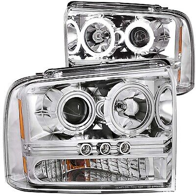 111118 Anzo Usa 111118 Projector Headlight Set W/Halo