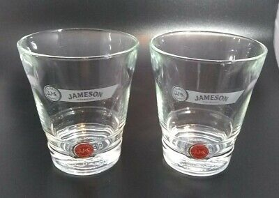 2) John Jameson & Son Whiskey Limited Edition Red Label Whiskey Glasses Set of 2