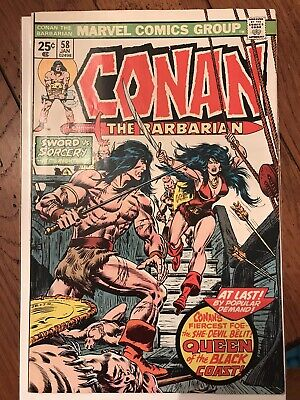 Conan The Barbarian #58 First 1St Appearance Of Belit, 1976 Clean Borded Copy