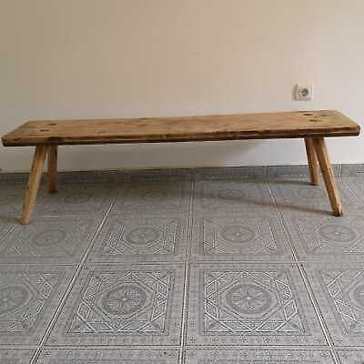 Vintage Stunning Antique Parlour Hardwood Bench Rustic Distressed Display Table