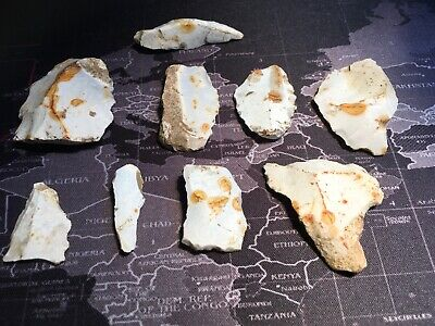 Mesolithic/neolithic Group Of Worked. Flint Found Togeather.prehistoric