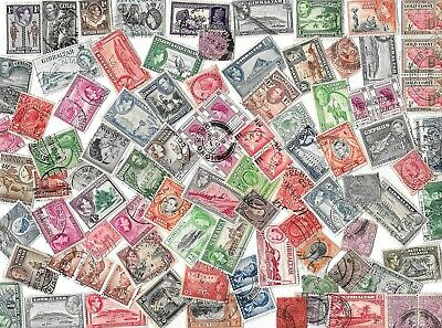 Old British Commonwealth / British Empire - Stamps off paper - 18 Grams
