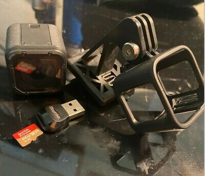 GoPro Session 5 w/64GB Scan Disk and USB connector and Helmet mount for Airsoft