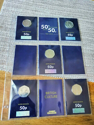 2019 Kew Gardens 50th Anniversary of the 50p Coin BU Set Brilliant Uncirculated