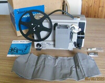 Boots Auto-Zoom Super 8 Cine Projector In Original Box. Good Cond.