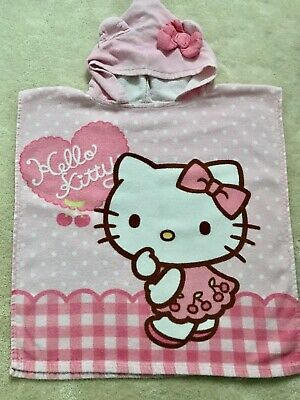 Hello Kitty Hooded Towel - One Size (About 2-5 Yrs)