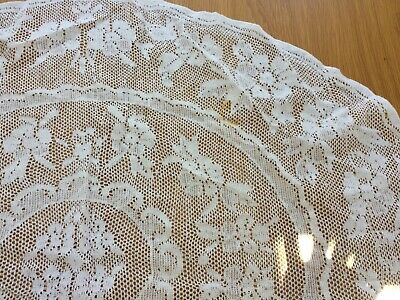 Pretty vintage lace oval tablecloth