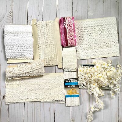 Mixed Lot of Vintage White Lace