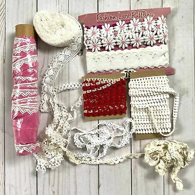 Mixed Lot of Vintage White Crocheted Lace
